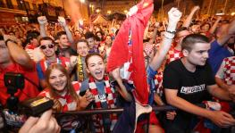 Croatia football team fans in Zagreb