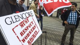 Glencore protests