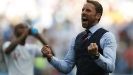 England football team coach Gareth Southgate at FIFA World Cup