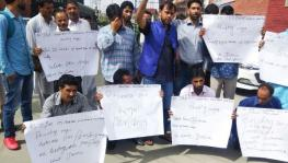 PHE J&K workers' protest