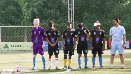 Indian blind football team players