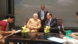 Modi and Hollande at G20