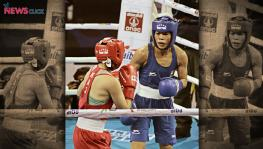 Cheered on by a partisan home crowd, Mary Kom dominated her opponent to record a commanding victory in her opening bout at the AIBA Women's World Boxing Championships in New Delhi. (Pic: BFI)