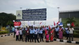 Airports Authority of India Employees protest