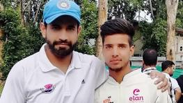 Rashik with Irfan Pathan during trials.