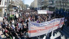 Secondary School Students in Greece Protest the new Lyceum Bill Proposed in the Parliament