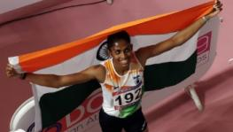 MR Poovamma at Asian Athletics Championships