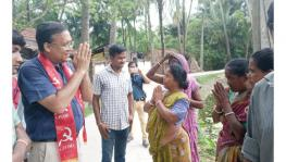 Before the assault, Dr Fuad Halim campaigning in an adjacent village on Tuesday