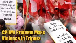 CPI(M) protests violence in Tripura by the BJP/RSS