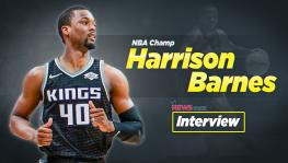 Interview with NBA basketball side Sacramento Kings' forward Harrison Barnes