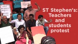 St Stephens College Protest