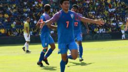 Anirudh Thapa of the Indian Football Team at the King's Cup