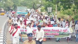 Farmers protest against delay in return of lands acquired for green corridor project