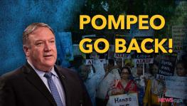 India Protests Against Pompeo