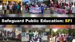 Safeguard Public Education, Demands SFI
