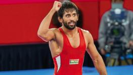 Indian wrestling team's Bajrang Punia, the current UWW World No. 1 in the 65kg freestyle division