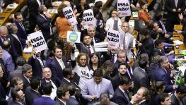 Brazil's lower house of Congress voted on the pension reform bill amid protests and tense negotiations / Michel Jesus/Brazil's Chamber of Deputies