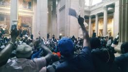 On Friday, July 12, around 700 members of the Gilets Noirs peacefully occupied the Pantheon in Paris.