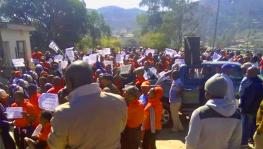 The teachers led by the Swaziland National Teachers Association staged a demonstration and handed over a petition to the government.