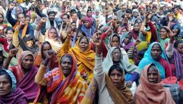 Protest in Lucknow Against Sonbhadra Tribal Killings