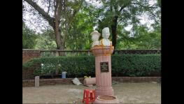 Savarkar Bust in Arts Faculty, Delhi University