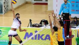 Indian volleyball team at the Men's U-23 Asian Volleyball Championship in Myanmar