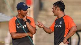 Sanjay Bangar and former Indian cricket team skipper MS Dhoni
