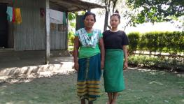 Two women of Garo tribe, in their village Garam Basti in Alipurduar