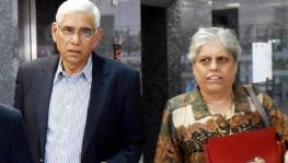 BCCI Committee of Administrators (CoA) members Vinod Rai and Diana Edulji.
