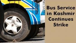 Bus Service Strike in Kashmir