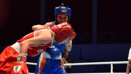 Indian boxer Jamuna Boro at AIBA World Women's Boxing Championships