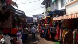 The streets in Bhopal's New Market carry a deserted look.