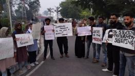 AMU students protest over suicide of IIT-M student, Fathima.