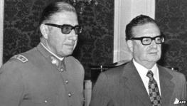 Gen Pinochet and Salvador Allende