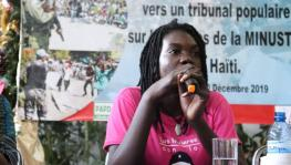 "Over 100 Haitian and international delegates have been participating in the International Colloquium ""Occupation, Sovereignty, Solidarity: Towards a People's Tribunal on Crimes of the MINUSTAH in Haiti"". Photo: Alba Movimientos Haiti"