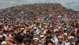 Rohingya refugees demonstrate at Cox Bazar in Bangladesh. (Photo: Getty Images)