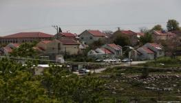 Illegal Jewish settlements on occupied Palestinian land.