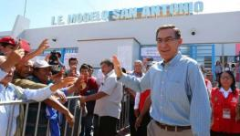 Peruvian President Martín Vizcarra voted to elect the new members of the Congress on January 26. Photo: Página 12