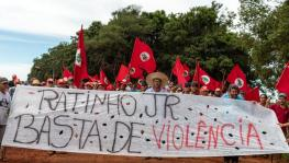 Ratinho Junior, No more violence! Photo: MST