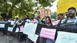 Students of Madras University protest against Sunday's violence at JNU