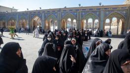 Iranian women voters at a polling station to cast their votes in the election to the Majlis, Tehran,  February 21, 2020