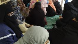 The city's poorest women have launched a dharna at the Jama Masjid demanding release of the arrested men.