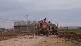 US military vehicle trying to enter government controlled region in eastern Syria.
