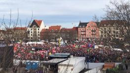 Over 15,000 people took part in the anti-right wing march in Erfurt.