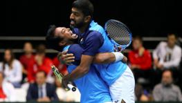 Leander Paes and Rohan Bopanna vs Croatia in the Davis Cup