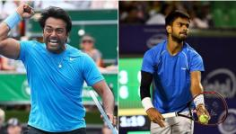 Indian tennis stars Leander Paes and Sumit Nagal