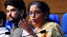 Finance Minister Nirmala Sitharaman and Anurag Thakur
