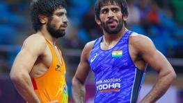 Indian wrestlers Ravi Dahiya and Bajrang Punia