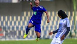 Indian women's football team striker Bala Devi