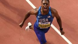 US 100m world champion Christian Coleman